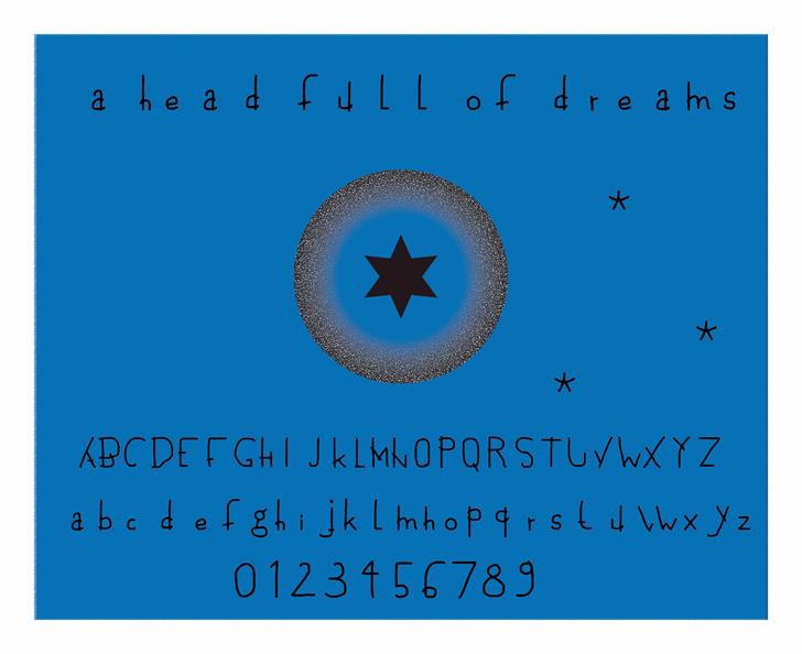 a head full of dreams font by Cé - al