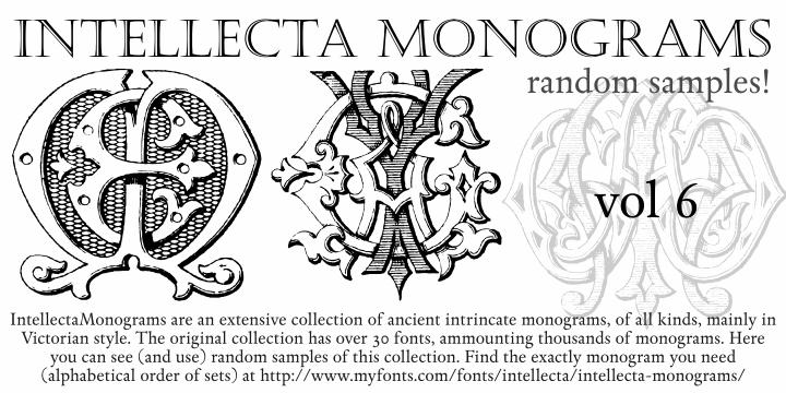 Intellecta Monograms Random Six font by Intellecta Design