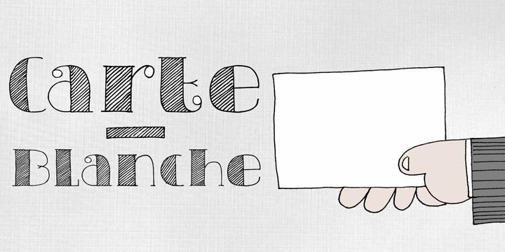 DK Carte Blanche font by David Kerkhoff