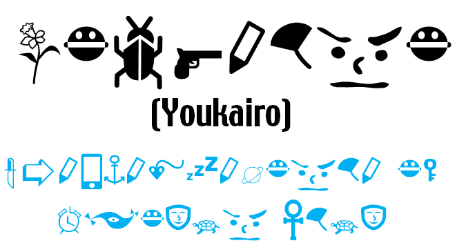 Youkairo font by heaven castro