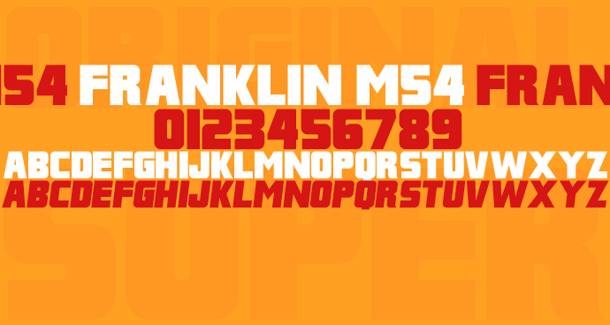 Franklin M54 font by justme54s