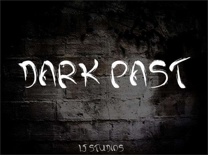 Dark past font by LJ Design Studios