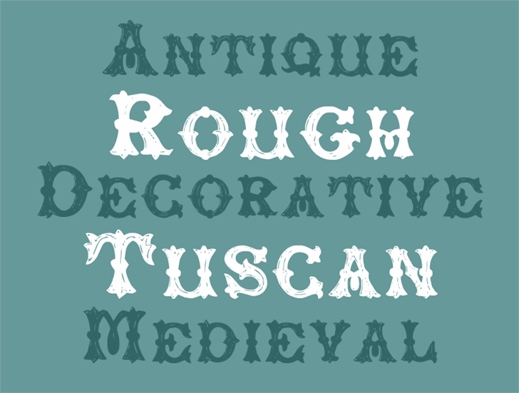 RoughTuscan font by Intellecta Design