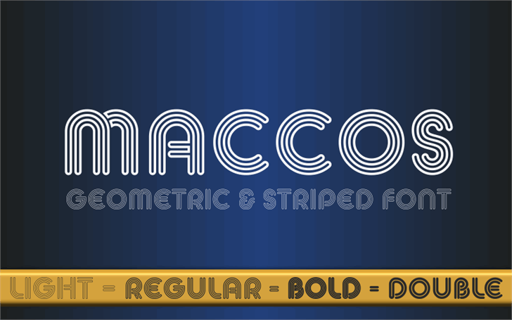 MACCOS Demo font by studiotypo