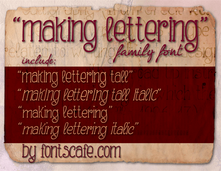 Making Lettering Tall_demo font by FontsCafe