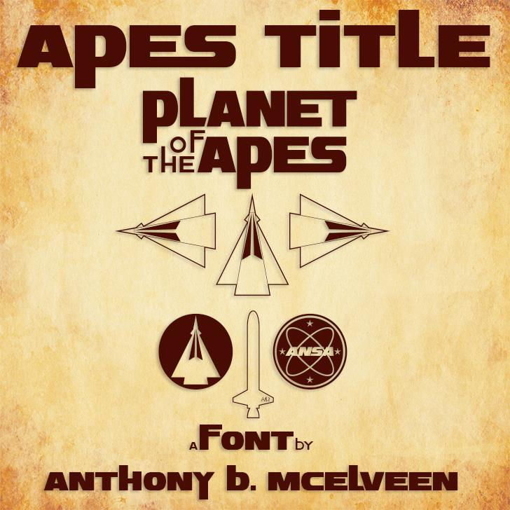 Apes Title font by ABMAC404