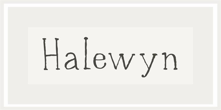 DK Halewyn font by David Kerkhoff