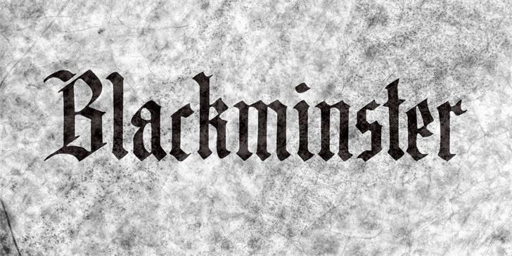 DK Blackminster font by David Kerkhoff