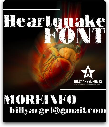 HEARTQUAKE font by Billy Argel