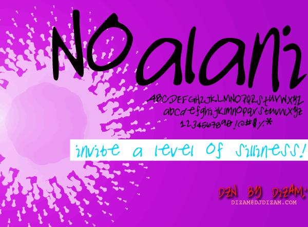 NOALANI font by Dizam