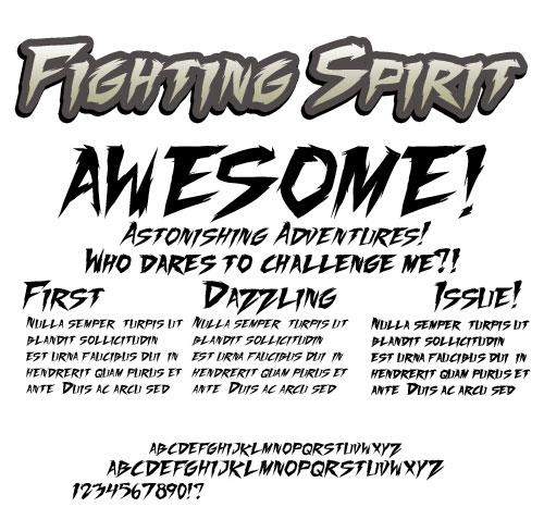 Fighting Spirit TBS font by Press Gang Studios