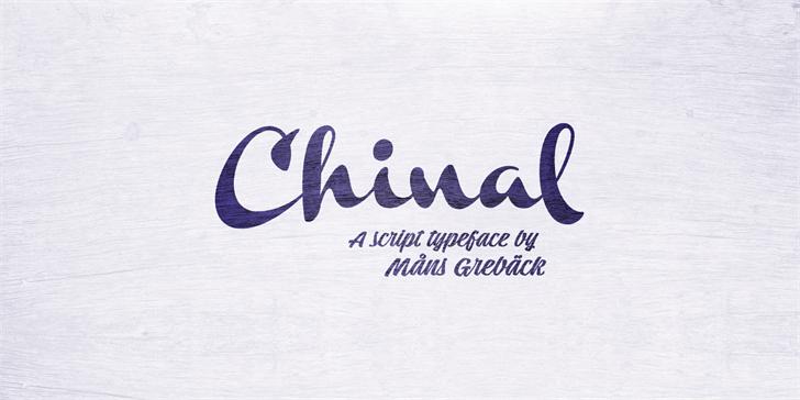 Chinal Light PERSONAL USE ONLY font by Måns Grebäck