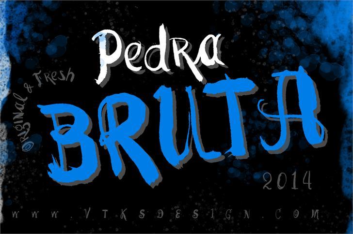 Vtks Pedra Bruta font by VTKS DESIGN