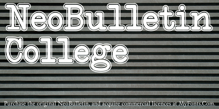 NeoBulletin College font by Intellecta Design