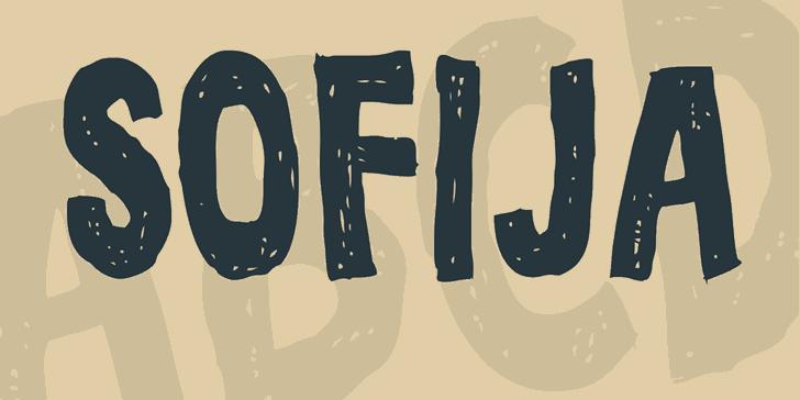 Sofija font by Vladimir Nikolic