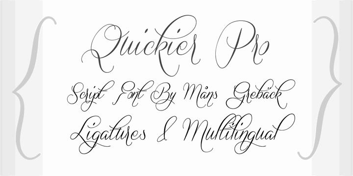 Quickier Demo font by Måns Grebäck