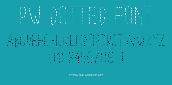 PWDottedFont by Peax Webdesign
