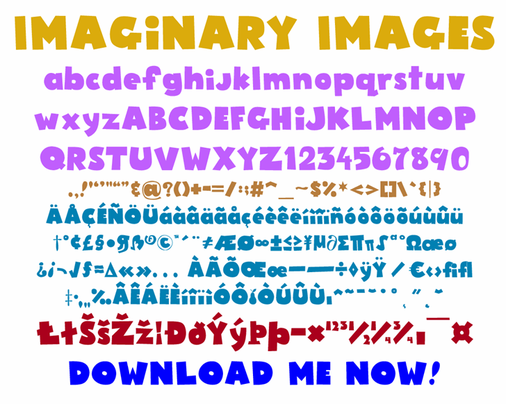 Imaginary Images font by Ultra Cool Fonts