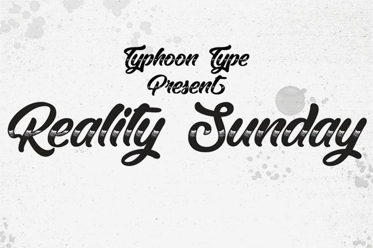 Reality Sunday font by Typhoon Type - Suthi Srisopha