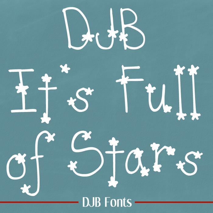 DJB  It's Full of Stars font by Darcy Baldwin Fonts
