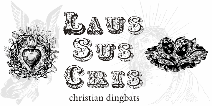 Laus Sus Cris font by Intellecta Design