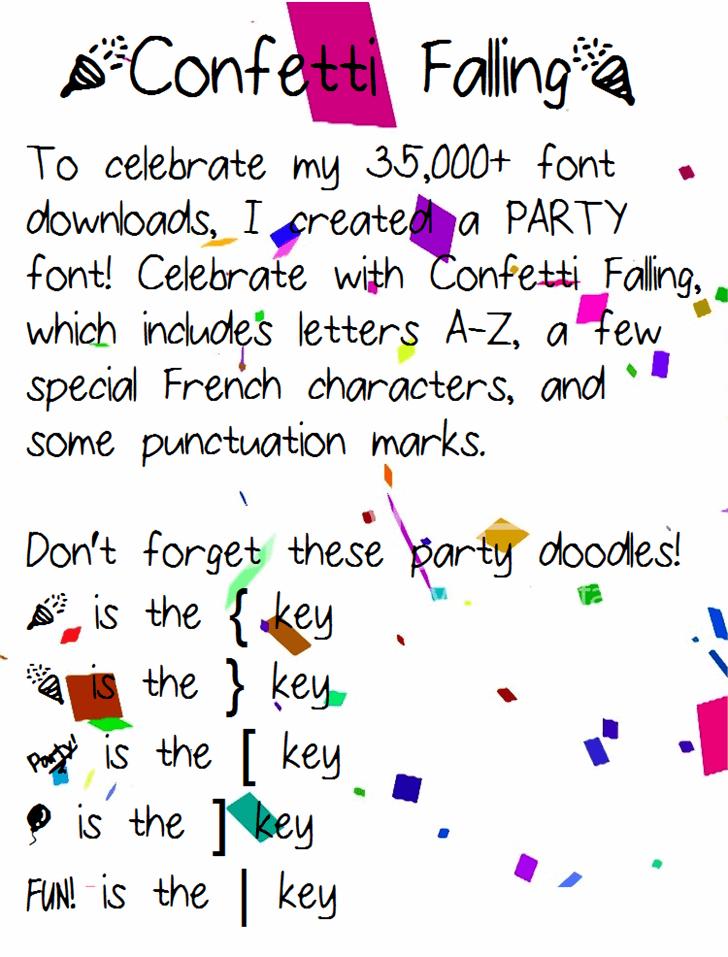 ConfettiFalling font by fluffybanana101