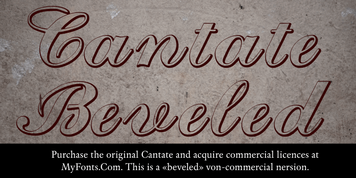 Cantate Beveled font by Intellecta Design