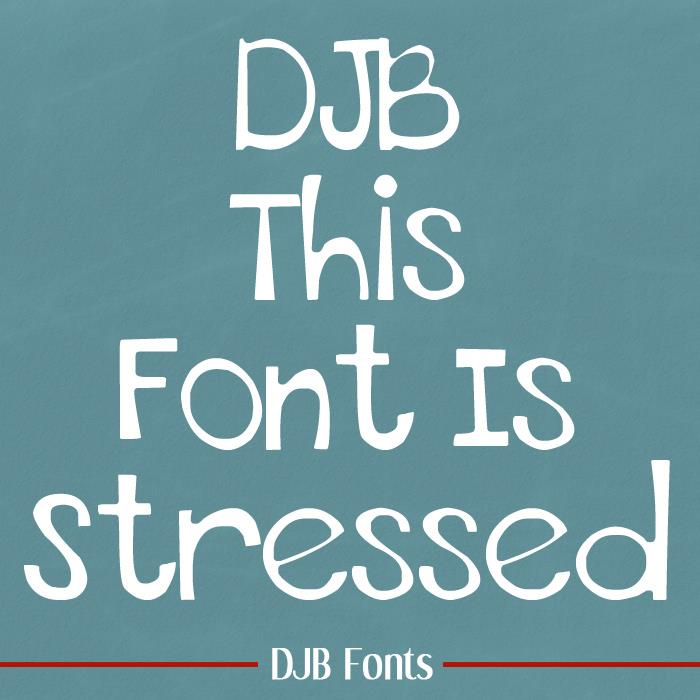THIS FONT IS STRESSED - EURO font by Darcy Baldwin Fonts