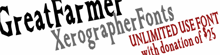 GreatFarmer font by Xerographer Fonts