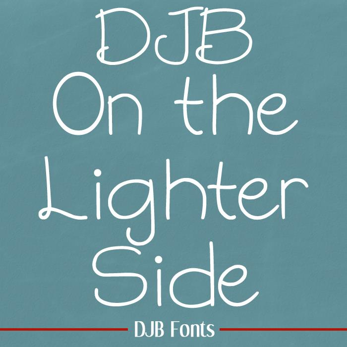 DJB On the Lighter Side font by Darcy Baldwin Fonts