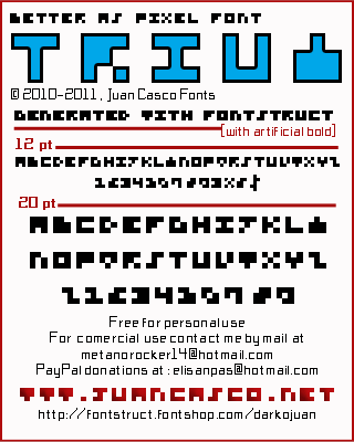 Trium font by Juan Casco