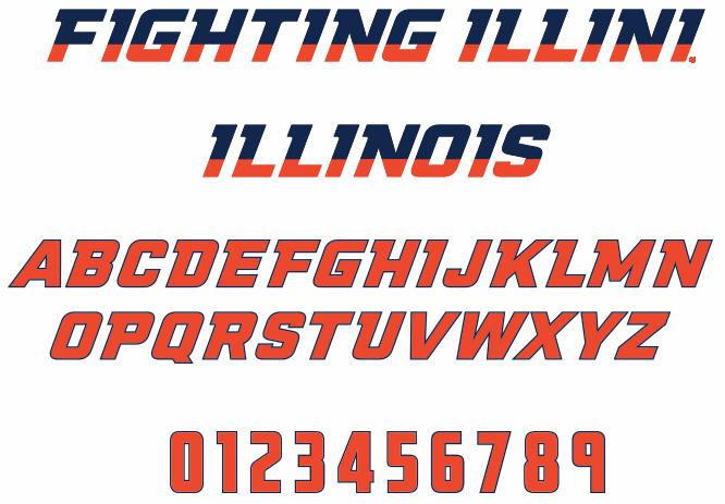 NCAA Illinois Fighting Illini font by The Sports Fonts