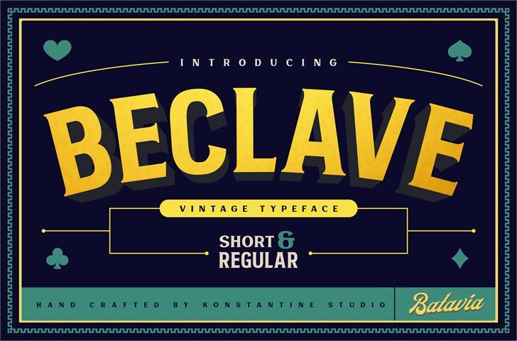 Beclave Bold DEMO font by Konstantine Studio