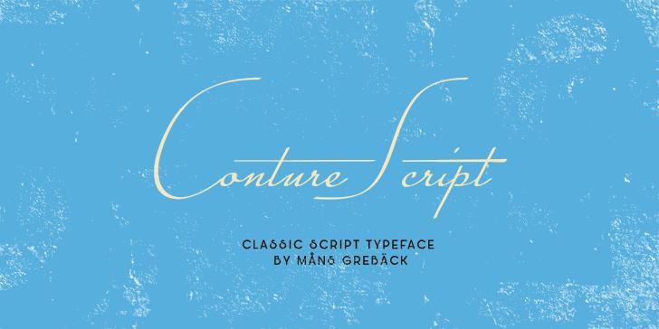 Conture Script PERSONAL USE font by Måns Grebäck