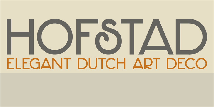DK Hofstad font by David Kerkhoff
