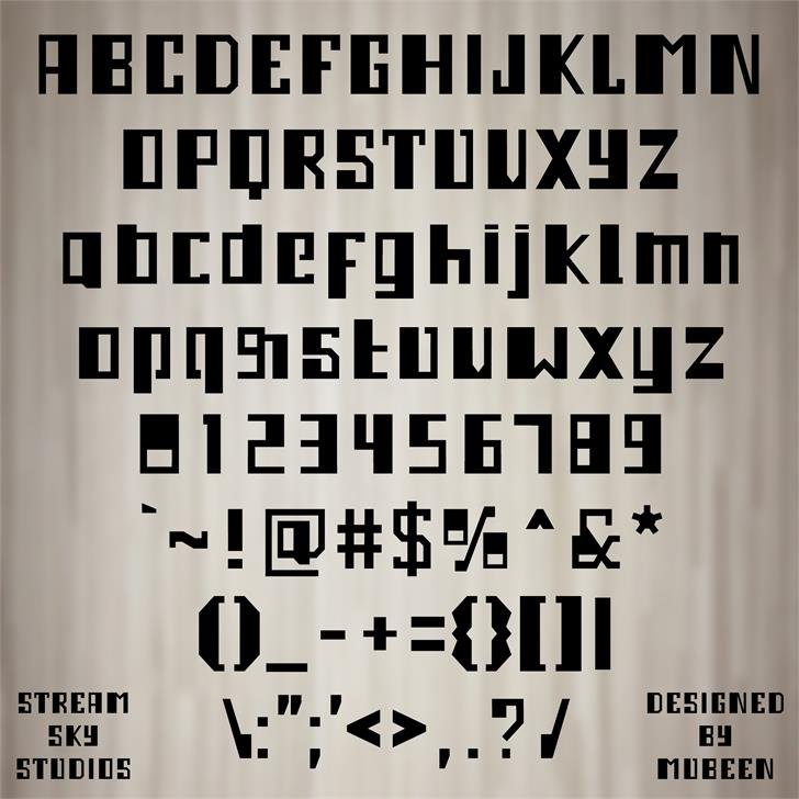 3M Ampleset font by Mubeen M