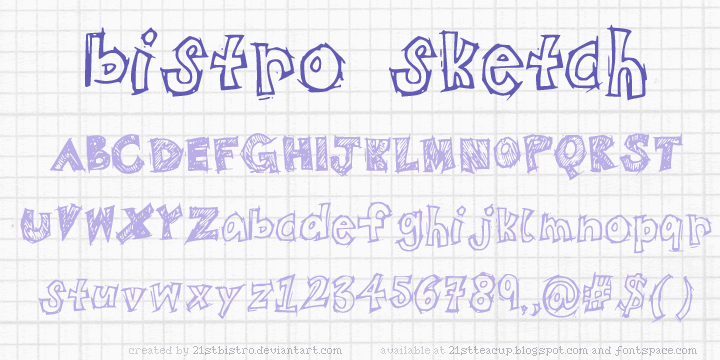 BistroSketch font by 21stbistro