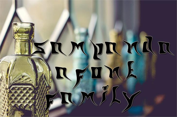 sampanda font by nafkah