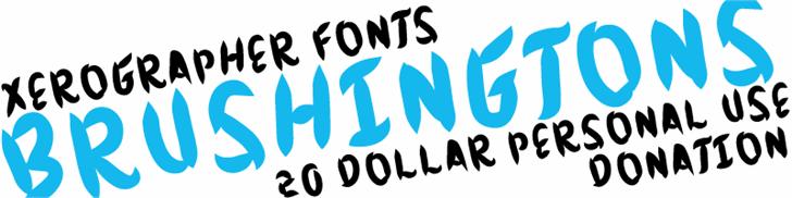 Brushingtons font by Xerographer Fonts
