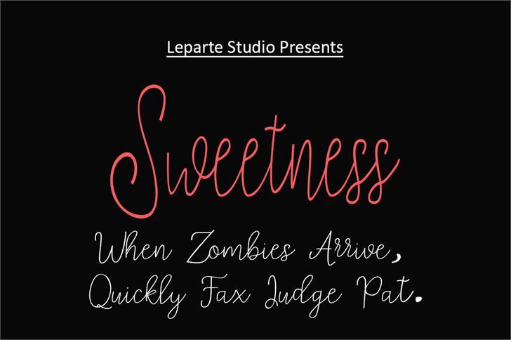 sweetness font by lepartestudio