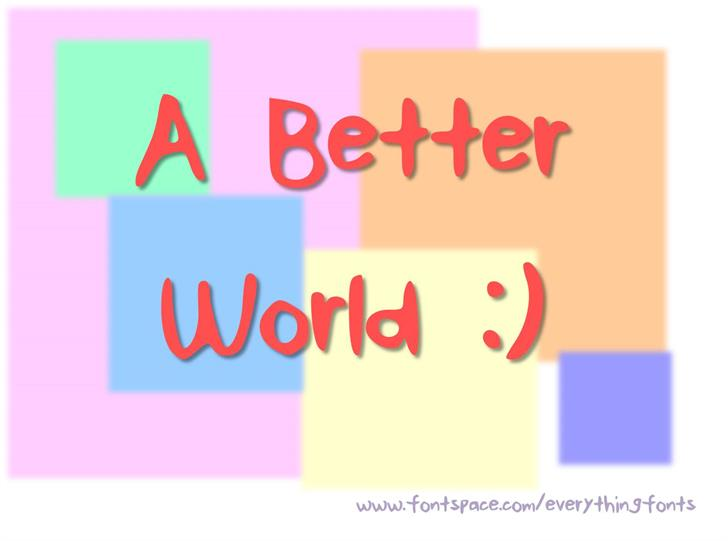ABetterWorld font by EverythingFonts