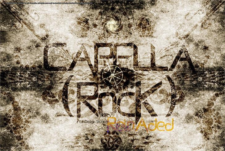 Capella (Rock) - LJ Design Stud font by LJ Design Studios