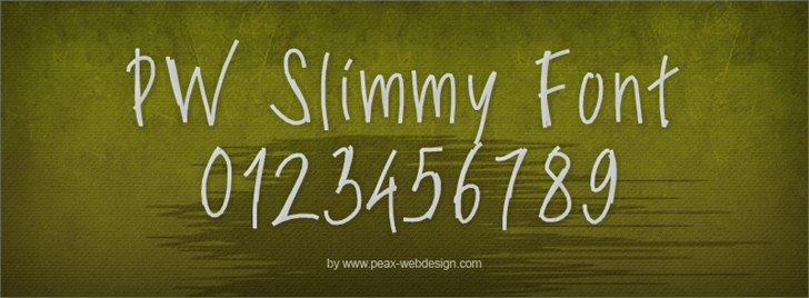 PWSlimyfonts font by Peax Webdesign