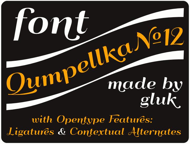 QumpellkaNo12 font by gluk