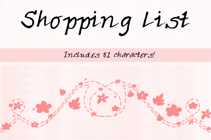 ShoppingList font by Chiara's Fontopia