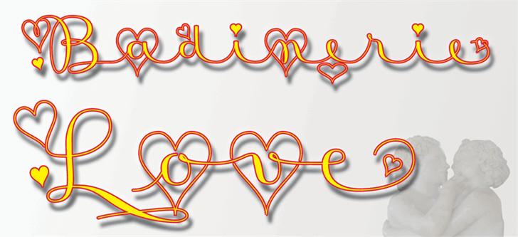 Badinerie Love font by JBFoundry