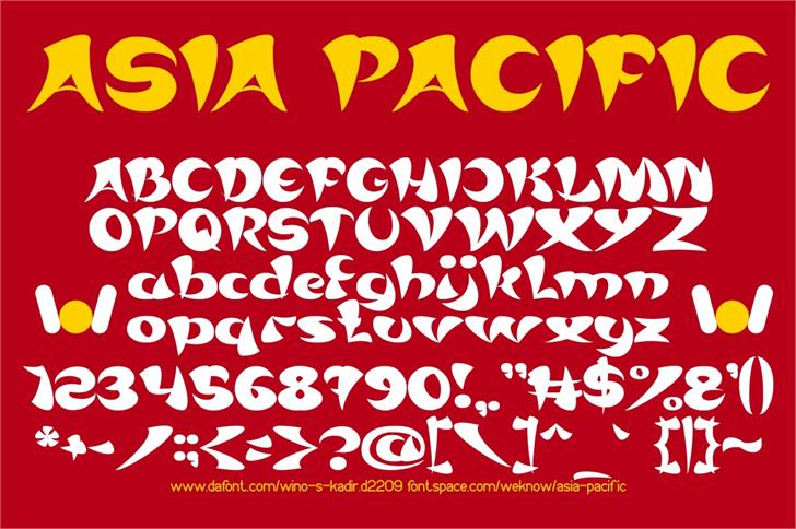 ASIA PACIFIC font by weknow
