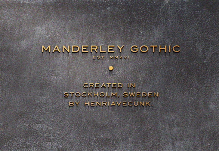 Manderley font by HENRIavecunK