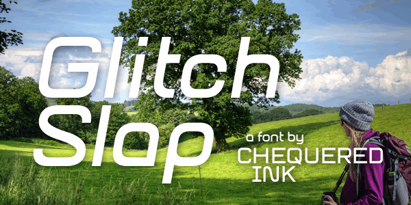 Glitch Slap font by Chequered Ink