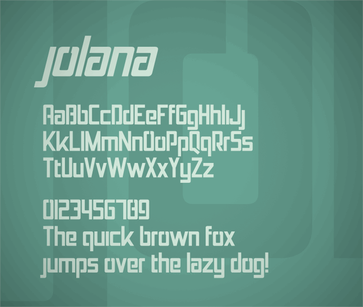Jolana font by Zdeněk Gromnica